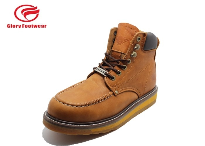 Comfortable Goodyear Welt Safety Shoes , Goodyear Steel Toe Work Boots Anti Slip